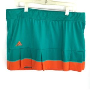 Adidas Green Orange Climalite skort Sz XL